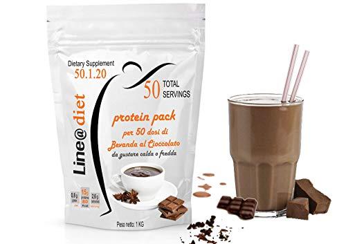Dieta Proteica PASTO SOSTITUTIVO Dimagrante|Frullati WHEY PROTEIN SHAKE Line@ 1 KG (50 Snack / 33 Pasti) (Cioccolato)
