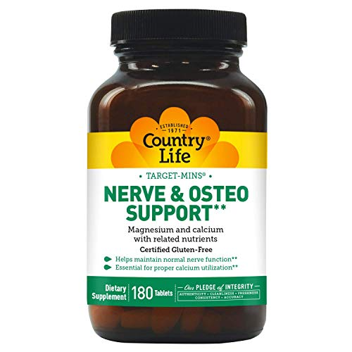 Country Life Target Mins Nerve and Osteo Support, 180-Count