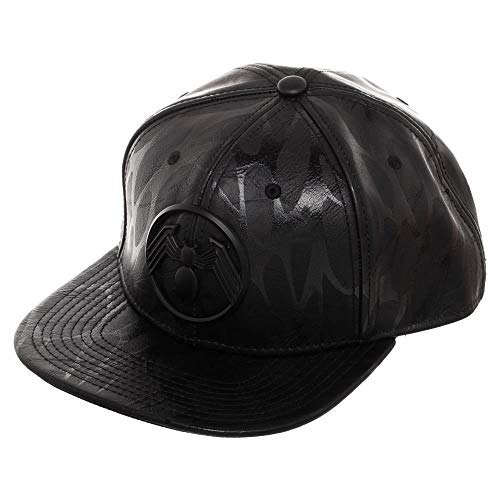 Bioworld Marvel Venom Symbol Leather Snapback Gorra De Béisbol