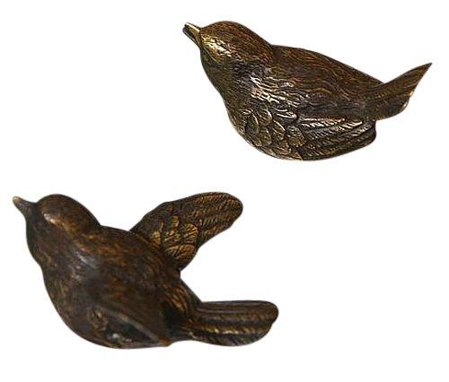 Steinfiguren Zwei Vögel aus Bronze