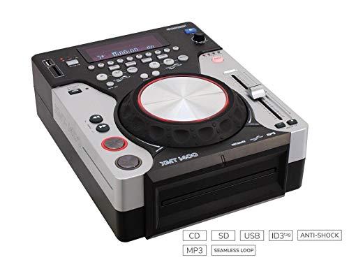 Omnitronic 11046035 XMT-1400 - Controlador DJ, con reproductor de CD