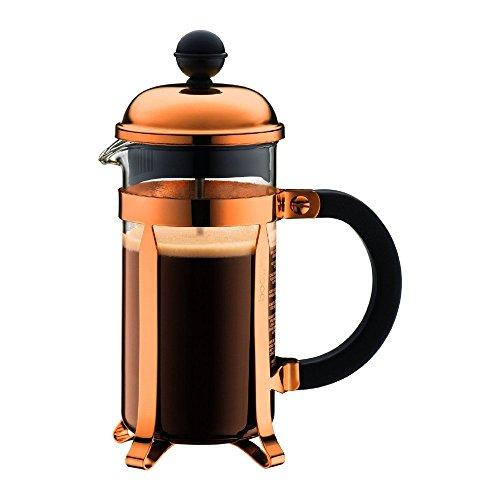 Bodum 0,35l Chambord Französische Kaffeepresse Kaffeebereiter für 3Tassen Kaffeemaschine (Kupfer) mit 125g Kaffee