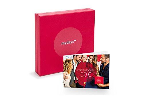 mydays 'Wertgutschein 50 Euro' + Geschenkbox | Über 14.000 Erlebnisse, über 20.000 Orte | Erlebnis-Geschenk für Frauen und Männer, Weihnachten