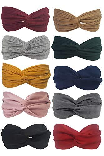 Women/'s fil Nœud Bunny Ear Ruban Élastique Turban Serre-tête Bandeau Head Wrap