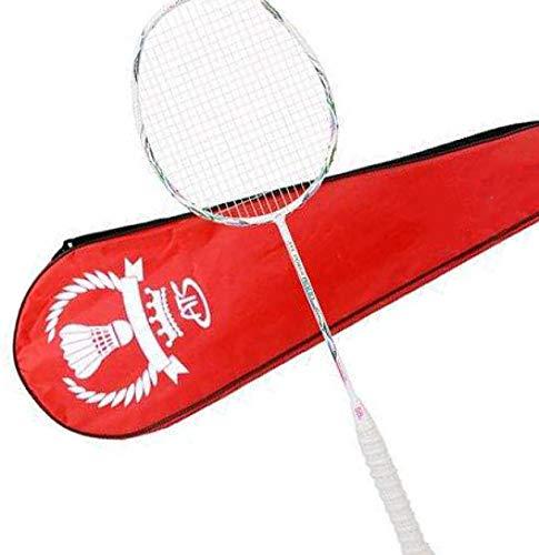 xiaoxioaguo 58g ultraligero traje de un solo tiro adulto ofensivo 7U8U tipo de carbono completo raqueta de bádminton durable