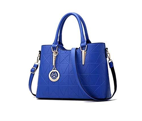 Meoaeo Neue Tasche Sweet Lady Temperament Schrägen Schultern Single Schulter Royal Blau