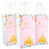 Princess Party Bags 16 Packs | Princess Gift and Goodie Bags | Ideal for Birthday Gifts Favors and Party Favors Multi-use for Kids Party Supplies