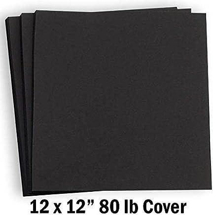 dfd0c7f302b12 Amazon.com: Hamilco Black Colored Cardstock Scrapbook Paper 12x12 ...