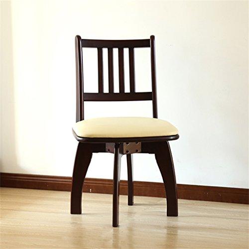 Dongy Silla de Comedor de Madera Maciza, Moderna, Minimalista, para el hogar, Silla de computadora multifunción, sillón de Madera Maciza (Color : B)