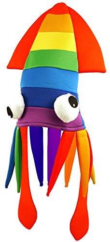 Herren Damen Rainbow Kalmar Neuheit Tier Lustig Karneval Festival Pride Welttag Des Buches-tage-woche Schicke Verkleidung Kostüm Hut