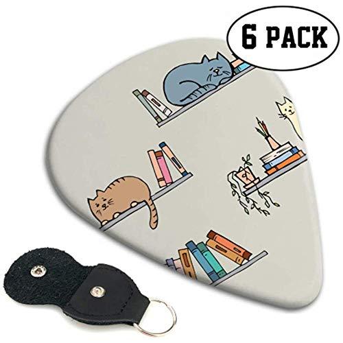 Bücherregal mit Fantasy Clever Cat Girl Plektren Dünne Plektren 6er Pack