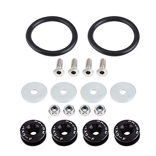 Yosoo Health Gear Autostoßstange Unterlegscheibe, Schnellverschluss, Motorraumunterlegscheibe, Geeignet für vordere Stoßstangen, hintere Stoßstangen, Kofferraum-/Lukendeckel(Schwarz)