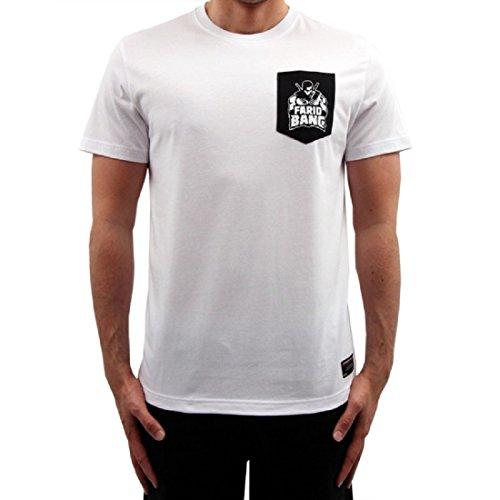 Banger Musik T-Shirt Logo Tasche Weiss (M)