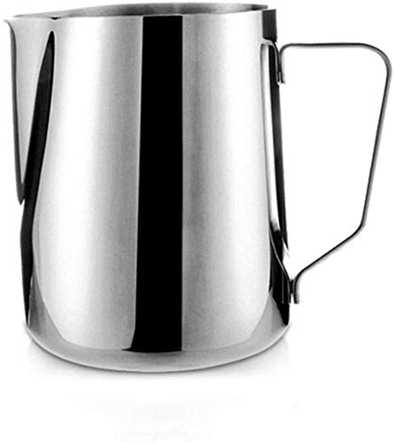 Stainless Steel Milk Frothing Pitcher with Measurement Double Wall Coffee Frother Cup with HandlePull flower cup coffee makerThree capacities 150ml