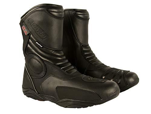 KEN ROD Motorrad Lederstiefel | Stiefel Motorrad Leder | MotorradSchuhe Leder | Motorradstiefel | Motorradstiefel mit Schutz