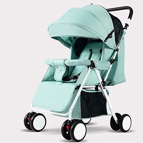 MAMINGBO Cochecito ligero, cochecito de bebé plegable con una mano con arnés de seguridad de 5 puntos y asiento reclinable de múltiples posiciones, cochecito de viaje ligero for bebés