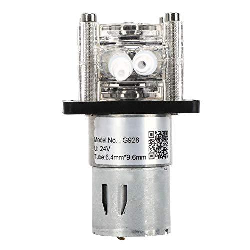 Schlauchpumpe, Peristaltikpumpe mit großem Durchfluss, Dosierpumpe mit Edelstahlschraube für Aquarienlabor 500 ml/min(24V)