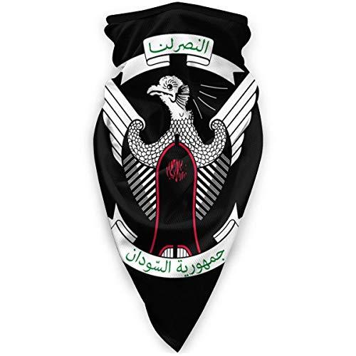 WlQshop emblème National du Soudan Cache-Cou Plus Chaud Coupe-Vent Couverture du Visage écharpe Couverture de Sports de Plein air