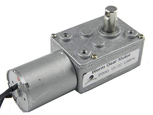 3.5RPM DC 12V Moteur de r/éduction /à Engrenage /à Couple /élev/é Arbre de Sortie 37 mm 3.5//15//30//70RPM