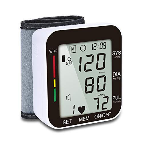 Misuratore Pressione da Braccio Digitale,Automatica Sfigmomanometro,Misuratore di Frequenza,2 × 99 set di Memoria,Ampio Display LCD
