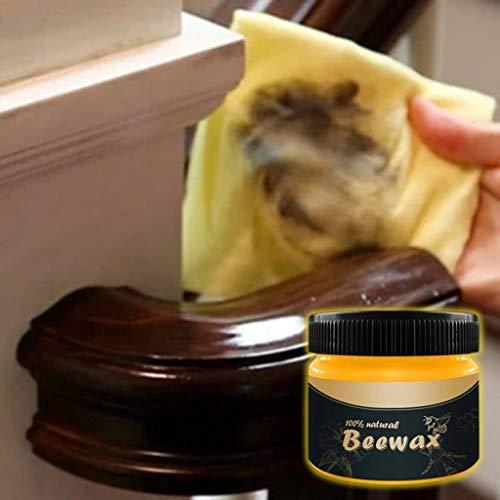 Wood Seasoning Beewax,Limpiador de Muebles de Madera 100% Natural Condimento Cera Pulido...