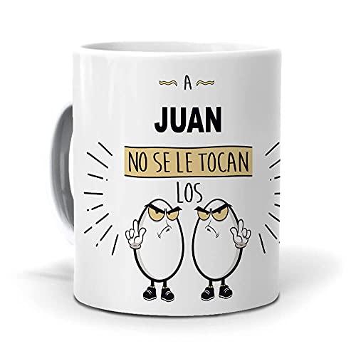 Taza A Juan no se le tocan los Huevos. Cerámica AAA - 350 ml.