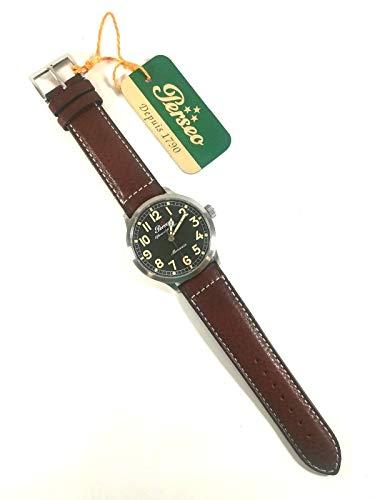 Perseo Reloj de hombre original 11345 Pac caja de acero Watch Man Offensiva Piave