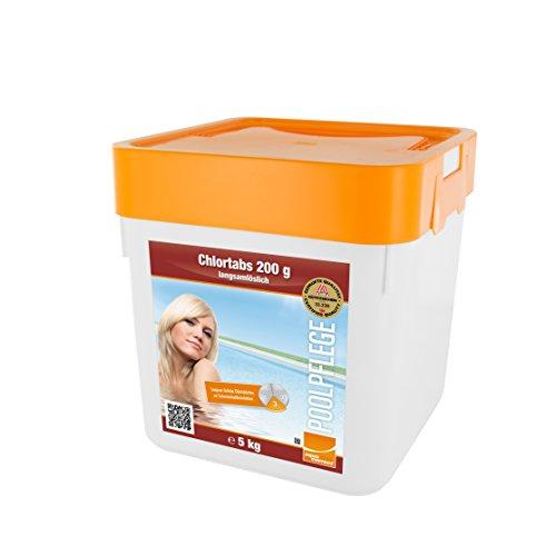 Steinbach Poolchemie Chlortabs, 200g langsamlöslich, 5 kg, Desinfektion, 0752205TD02