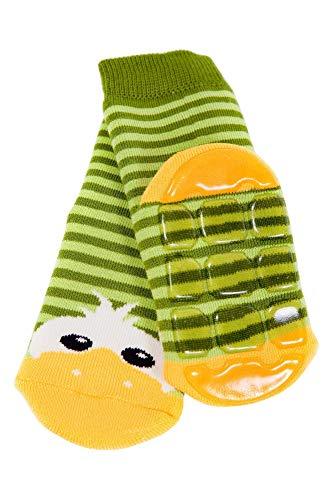 Weri Spezials Baby Voll-ABS Socke Enten Motiv in Gruen Gr.18-19 (9-12 Monate)