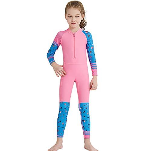 KOIJWWF Kinder voller Neoprenanzug Langarm Neopren Kinderschwimmen-Neoprenanzug Schnell trocknend Tauchanzug Sonnenschutz Surfen Neoprenanzug,B,XXL
