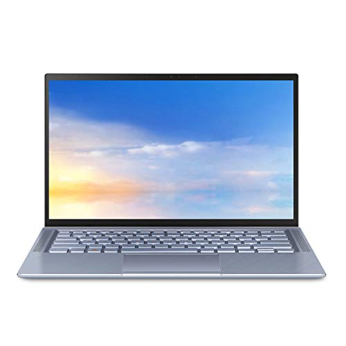 "ASUS ZenBook 14 Ultra Thin and Light Laptop, 4-Way NanoEdge 14"" FHD, Intel Core i5-10210U, 8GB RAM, 512GB PCIe NVMe SSD, Wi-Fi 5, Windows 10 Home, Utopia Blue, UX431FA-EH55"