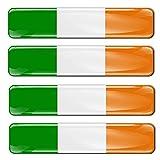 Biomar Labs® 4 pcs 3D Gel Pegatinas Bandera Nacional Ireland Irlanda Silicona Adhesivo Autos Coches Motos Ciclomotores Bicicletas Ordenador Portátil F 12