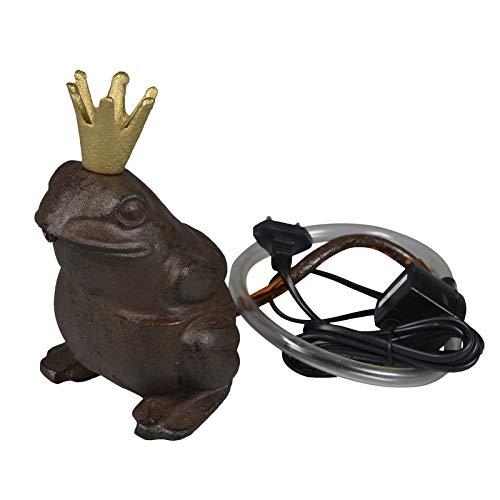 Wasserspeier 'Froschkönig' aus Gusseisen 19 cm