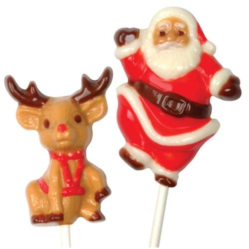 Schokolutscher Form Santa & Rudolph