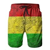 Bob-Marley-Background Classic Summer Boardshorts with Pockets for Men