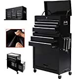Zety Corp New 8 Drawer Rolling Tool Chest Portable Tool Box Organizer on Wheels Tool Storage Cabinet (Black)