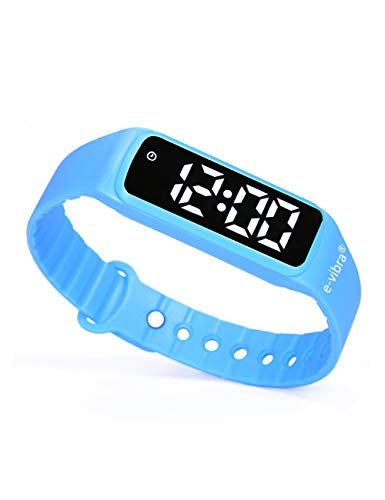e-vibra Premium Potty Training Watch - Water Resistant Vibrating Alarm Reminder Watch Baby Toilet Potty Training Countdown Timer Watch for Girls/Boys (Blue)