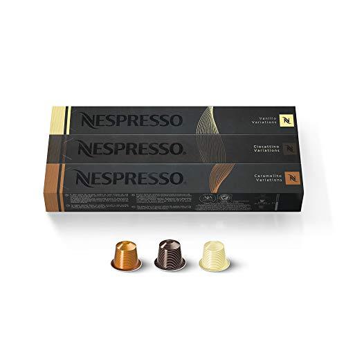 Nespresso Espresso Trio Vanilio Caramelito Ciocattino, Espresso-Variationen, 30Kapseln