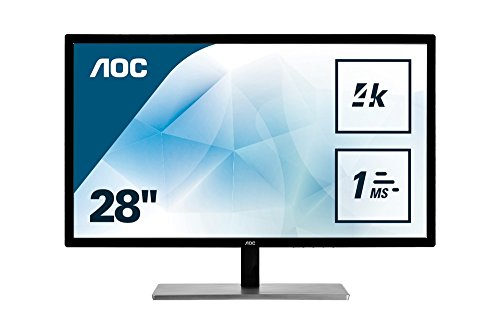 "Monitor AOC U2879VF - Pantalla para PC de 28"" UHD (resolución 3840 x 2160, TN, 1 ms FreeSync, Displayport, HDMI)"