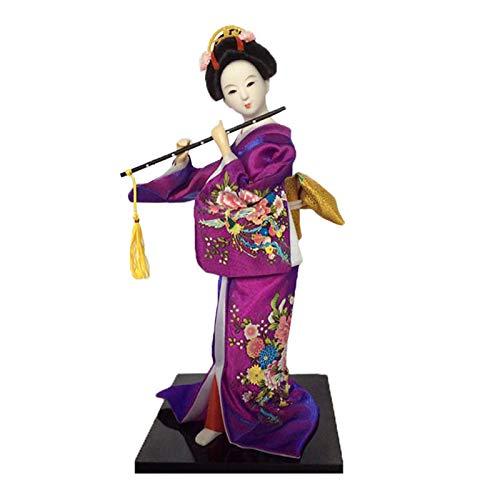 Siunwdiy 12 Zoll Mini Japanische Geisha Puppe Kunst Sammlerstücke, mit traditionellen Vintage Kimono,Kreatives Geschenk für Kinder und Freunde,#05,Oriental doll