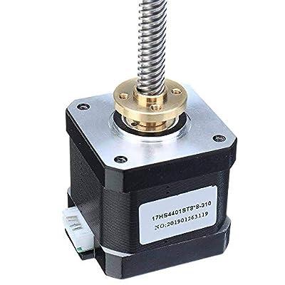 17HS4401-S T8x8 Nema 17 Lead Screw Stepper Motor Linear Actuators 40mm 1.7A 40N.cm 4-lead 42 Motor 100-500mm Trapezoidal Lead Screw for 3D printer Z Axis (100mm)
