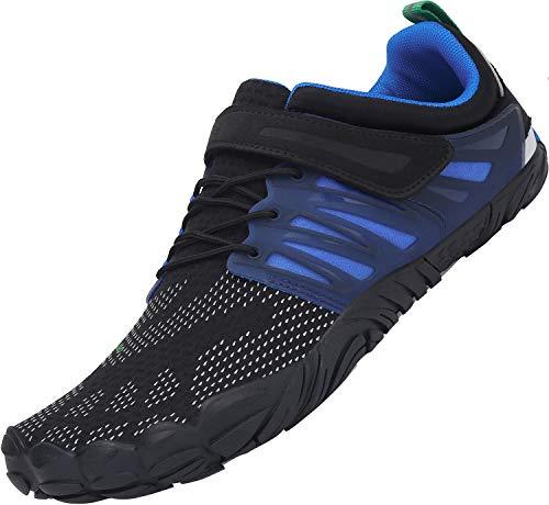 SAGUARO Klettverschluss Barfuß Schuhe für Männer und Frauen Sommer Ultraleicht Trail Laufschuhe Wasser Sportschuhe Outdoor-Übung Wasserschuhe Bootfahren Fahren rutschfest Surfschuhe, Water Blau 44