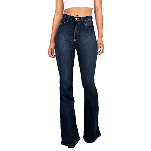 Review Handyulong Womens Jeans Bootcut High Rise Stretch Denim Pants Wide Leg Bell Bottom Flare Jegg...