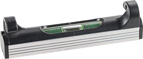 kwb Schnur-Wasserwaage, 78 mm, leicht, klein, handlich und robust, mit Aluminium Unterseite, ideal für Richtschnur, in Schwarz-Silber