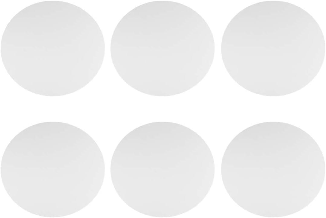 Milisten 6 Pcs Ronde Bord Coup/é Panneau de Toile /Étir/é Toile Peinture /à Lhuile Couleur Panneau 15 Cm
