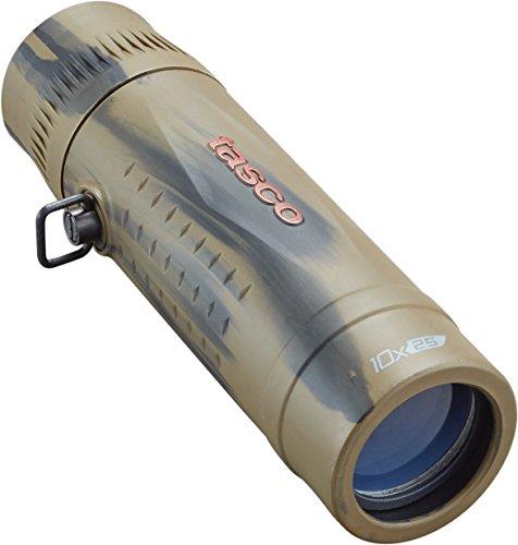 TASCO 568125B Essentials Roof MC Box Monocular, 10 x 25mm, Brown Camo