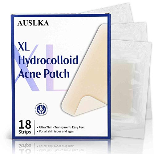AUSLKA Akne Pickel Patch XL(9 Packs-18 Strips), Acne Pimple Patch, Pimple Pickel pflaster