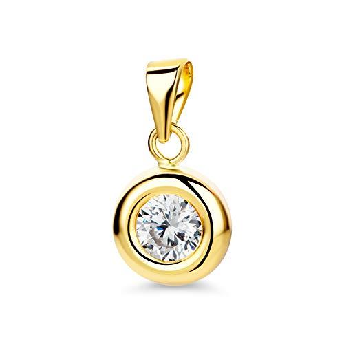 Orovi Ciondolo da donna in oro giallo 9 carati/375 con zirconi, per donne