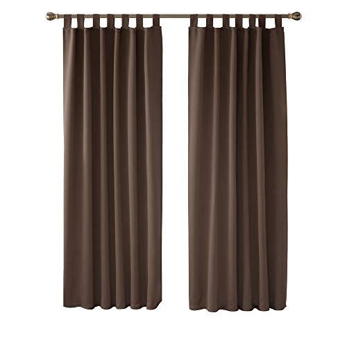 cortinas dormitorio matrimonio marron