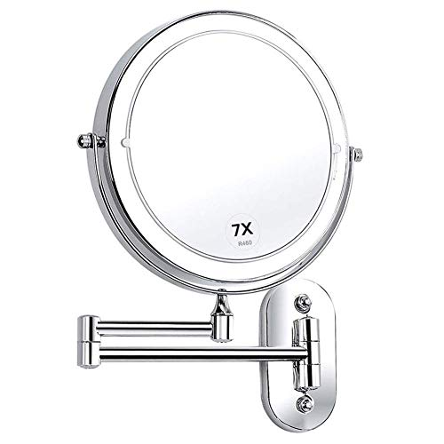 CXQD Espejo de Maquillaje montado en la Pared Espejo de baño LED...